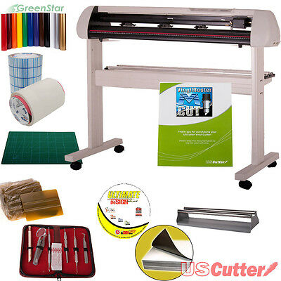 "34"" Vinyl Cutter BUNDLE Sign Cutting Plotter w/VinylMaster Cut - Design & Cut"
