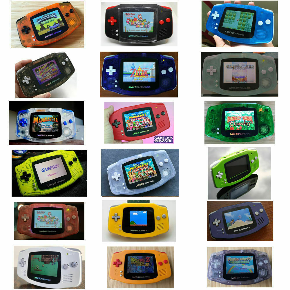 Nintendo Game Boy Advance GBA AGS 101 Brighter Mod Backlit P
