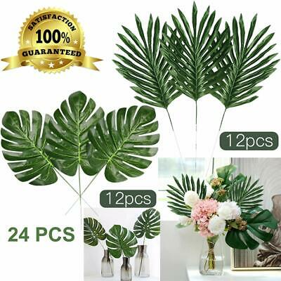 Faux Palm Leaves With Stems Artificial Tropical Plant Imitation Safari leaves](Fake Palm Leaves)