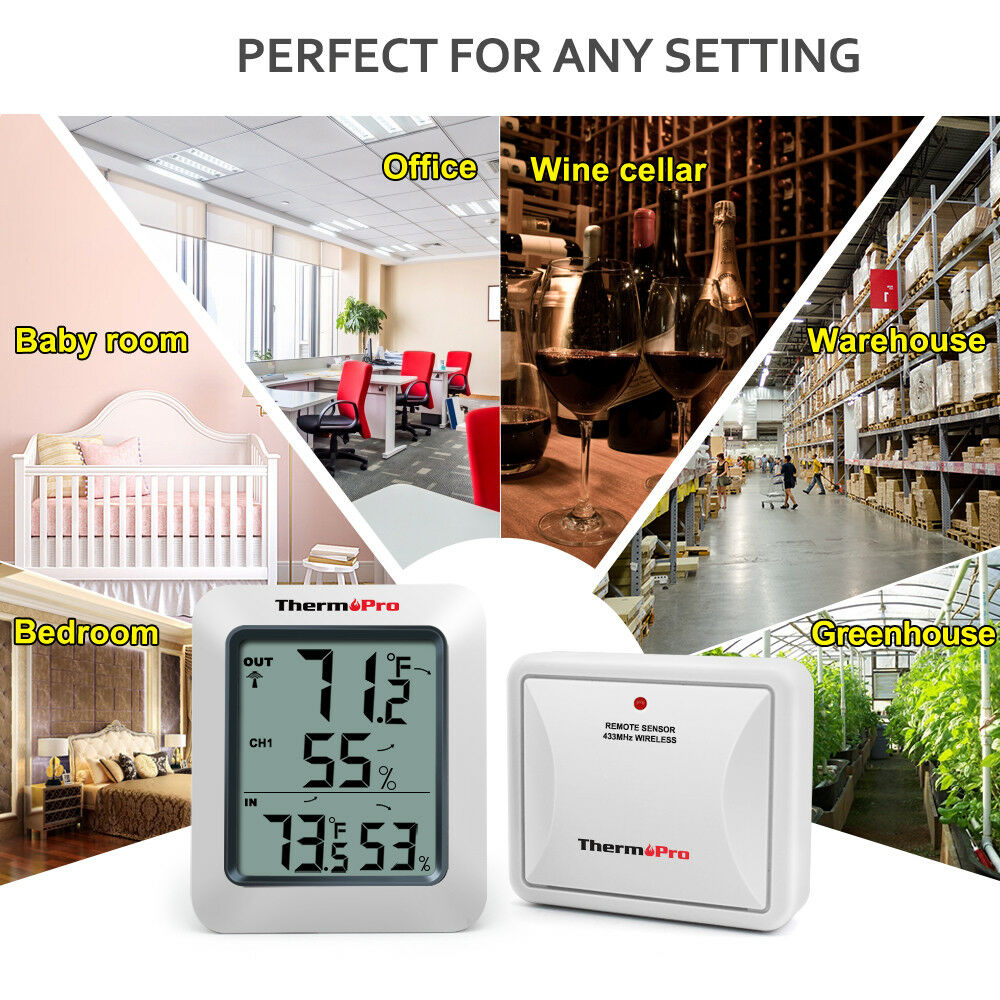 ThermoPro-TP60 Indoor Outdoor Digital Hygrometer Thermometer
