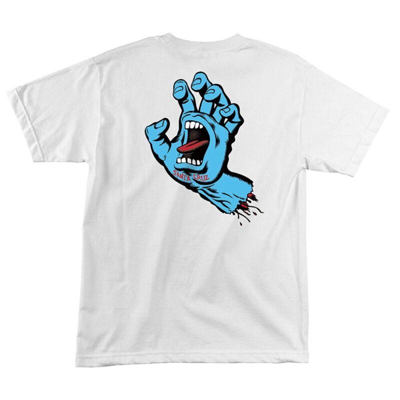 Santa Cruz SCREAMING HAND Skateboard T Shirt WHITE MEDIUM