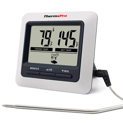ThermoPro Digital Meat Cooking Thermometer & Timer Alarm for BBQ Food Oven Grill