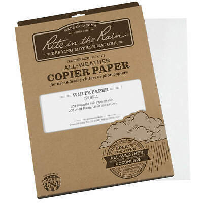 Rite In The Rain 8511 Waterproof Laser Paper8-12x11pk200