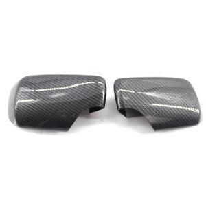 Fit for BMW E46 98-05 Cover Cap for Door Mirror Primered L&R Side Carbon Fiber