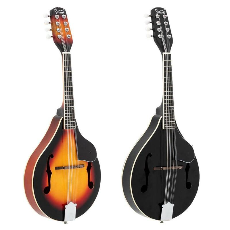 New Glarry 8 Strings Elegant Cambered Wood Acoustic Mandolin Black/Sunset