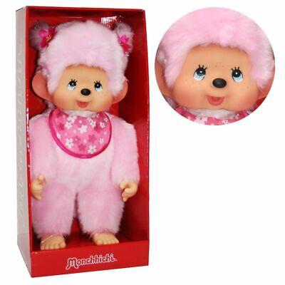 Kirschblüten-Mädchen   45 cm   Monchhichi Puppe   Mädchen   Pink   rosa Fell
