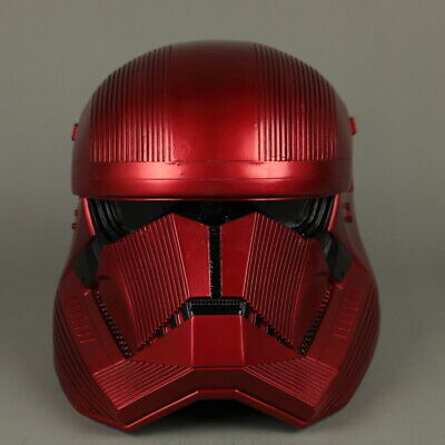 Halloween Cosplay Star Wars The Rise of Skywalker Sith Trooper Red Helmet  Prop