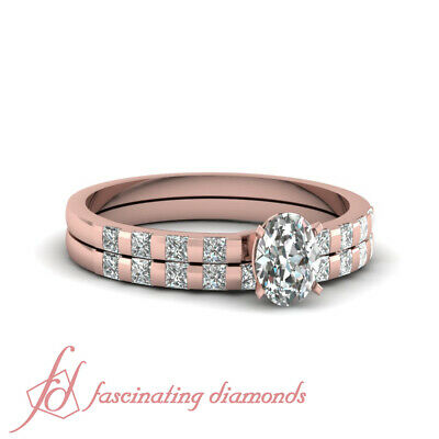 .90 Ct GIA Certified Oval Shaped Diamond Engagement Rings And Bands For Women