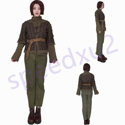 Exclusive Game of Thrones Arya Stark Handmade Cosplay Costume Halloween - Game Of Thrones Halloween Costumes Arya