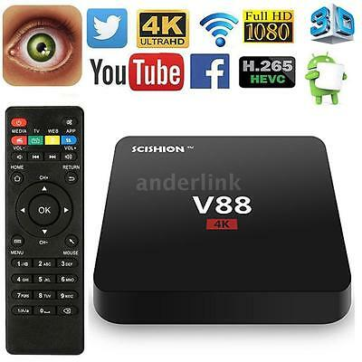 V88 RK3229 UHD 4K Latest 16.1 Smart Android 6.0 TV Box 8G Quad Core Media Player