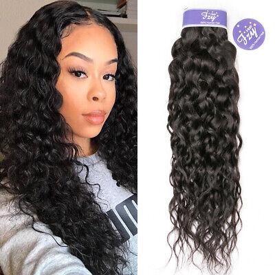 1Bundle Malaysian Water Wave Human Hair Weave 100% Wet and Wavy Human Hair -