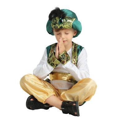 Boy's Arab Prince Dress Up Costume Kids Cosplay Halloween Party Outfit - Prince Dress Up Costume