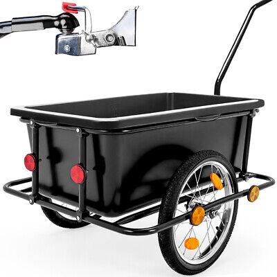 Rimorchio per bicicletta vasca in plastica rimovibile 90L carrello per bici 80kg