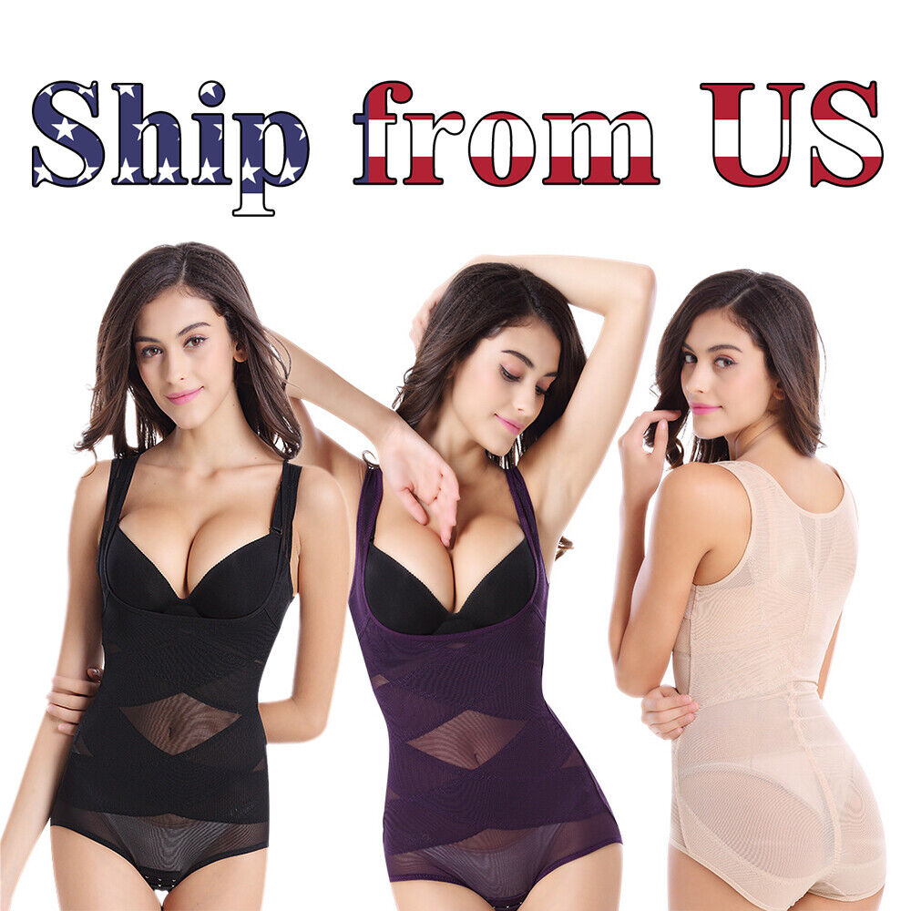 US Fajas Full Body Seamless Shapewear Bodysuit Firm Control Girdle Corset Shaper Clothing, Shoes & Accessories