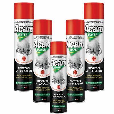 Acaromayer Insetticida Acaricida Spray 5 Flanconi da 400 ml