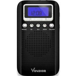 AM FM Digital Portable Pocket Radio With Alarm Clock- Best reception and Longest
