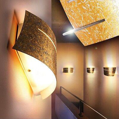 Wandlampe Leuchte Design Wandleuchte Lampe Wandstrahler Flurlampe gold Farbe