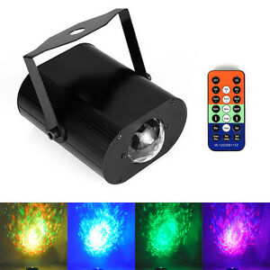RGB LED Water Wave Ripple Effect Stage Light Laser Projector Lamp UK Plug Remote