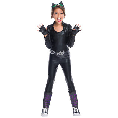 Girls Deluxe Catwoman DC Super Hero Girls - Cat Women Costume