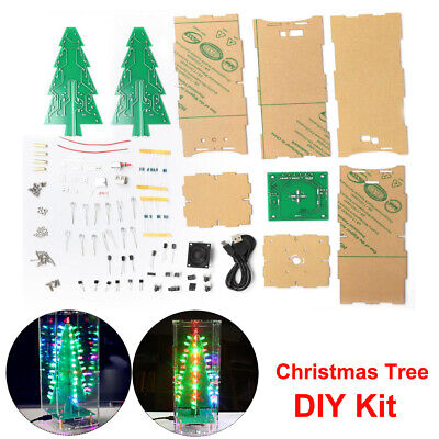 DIY LED Colorful Light Chirstmas Tree MP3 Music Player Gift Electronic Lamp Kit ()