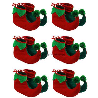 6 X ELF BOOTS PIXIE SHOES CHRISTMAS FANCY DRESS COSTUME ACCESSORY GNOME (Christmas Gnome Costume)
