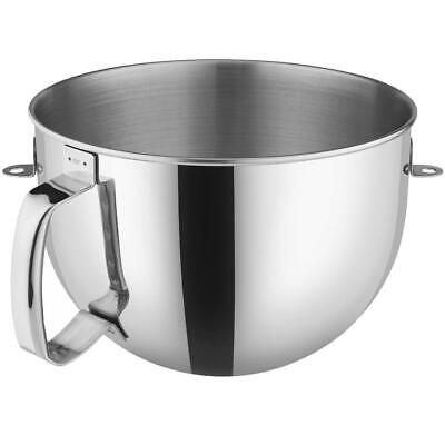 6 Quart Stainless Steel Mixing Stand Mixer Bowl Handle Dishwasher Safe Polished
