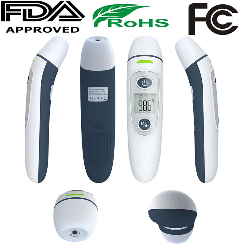 No Touch Non-Contact Forehead Ear Digital Infrared Thermometer Medical Grade USA