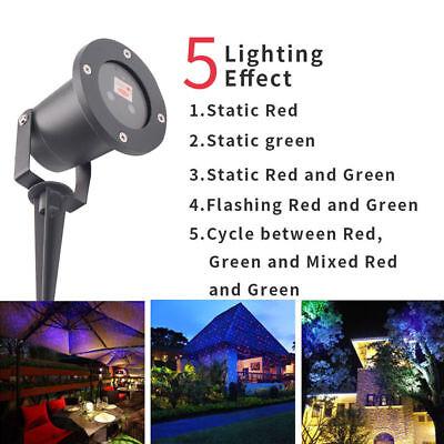 Christmas Laser Projector Red Green Star Showers Light Outdoor Waterproof Garden