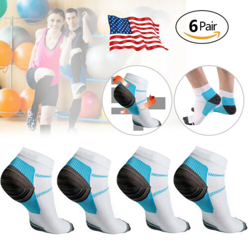 USA Adults Compression Sport Ankle Socks Plantar Fasciitis Heel Spurs Arch Pain Health & Beauty