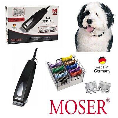 Moser PROFI Hunde Schermaschine 1234 +8 Metallaufsätze. Tier Schermaschine. NEU!