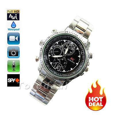 Waterproof 8GB Spy Video Wrist Watch Camera HD 1280*960 Hidden DV DVR Camcorder