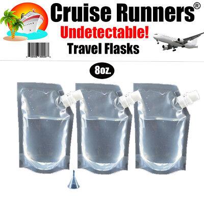 - Cruise Plastic Travel Flask Kit Runners Rum Alcohol Liquor Smuggle Hidden Booze