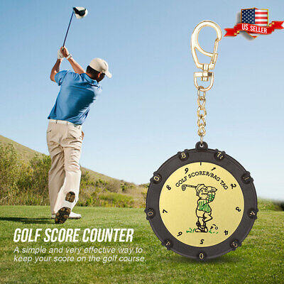 18 Holes Golf Score Stroke Shot Counter Keeper with Clip Keychain Accessories US