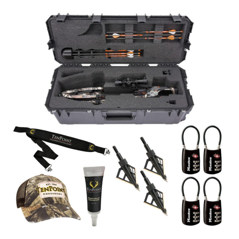 SKB Cases iSeries 3613-12 Waterproof Crossbow Case with Accessory Bundle