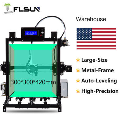 FLSUN Large Size 300x300x420mm I3 3D Printer Auto-leveling System Dual Z Motor