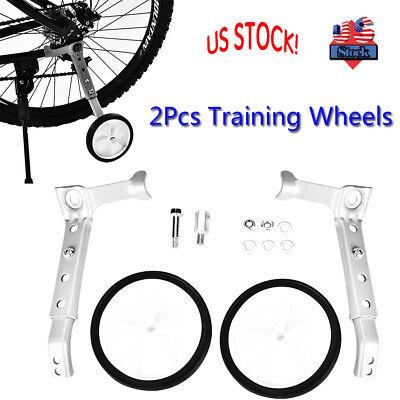 Training Side Wheels 2Pcs Adjustable Bicycle Training Wheel Stabilizer for Children 16-22 Bicycle Balance Bike
