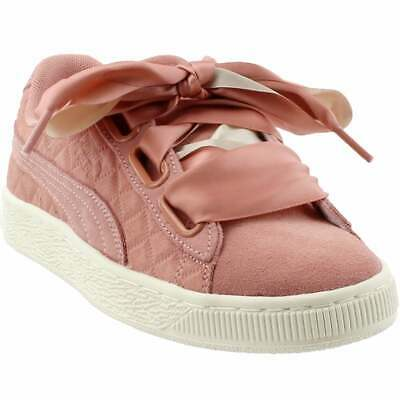 Puma Suede Heart Quilt Sneakers Casual    - Pink - Womens