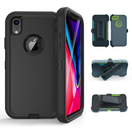 for iPhone XR/XS Hybrid Case Heavy Duty Cover+Belt Clip fit