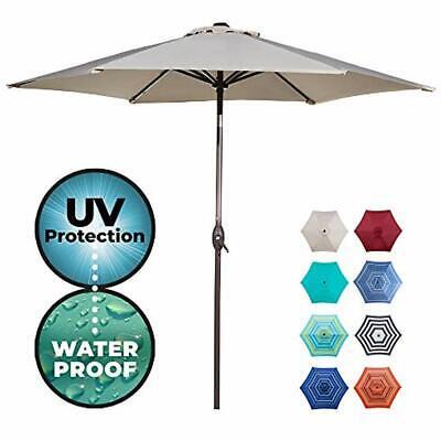 Abba Umbrellas Patio Outdoor 9-Feet Aluminum Market Table Push Button Tilt 9&39,