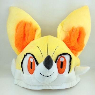 Fennekin Plush Cap Hat Pokemon XY Character Fire Fox Soft Cosplay Toy for Winter - Fire Hats For Kids