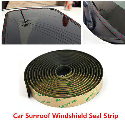 5m Seal Strip Trim For Car Front Rear Windshield Sunroof Weatherstrip Rubber
