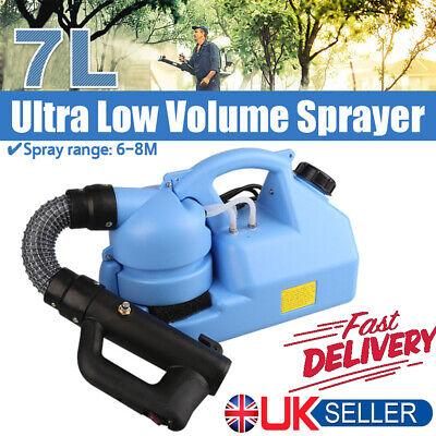7L ULV Electric Fogger Fogging Machine Disinfection Sprayer WeedKiller UK 220V