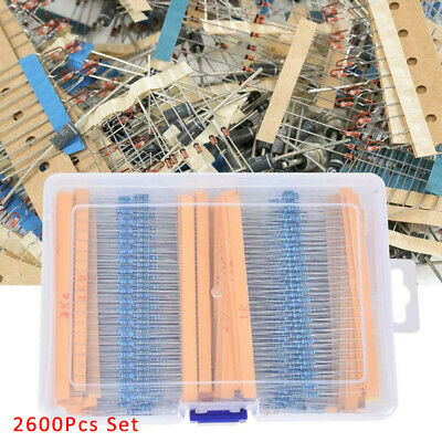 2600pcsset13m 12 Watt Metal Film Resistors Assortment Electronic Kits Box