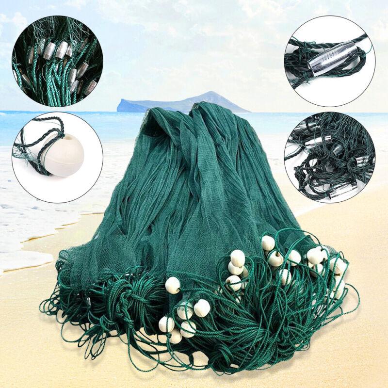 US 2x10M / 6.5x33FT Green Seine Beach Drag Net Fishing Cast Polyethylene Net