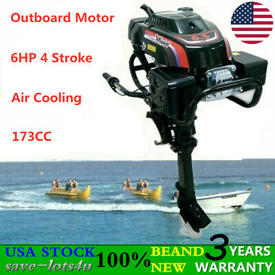 6 Hp 4 Stroke Outboard Motor Engine Fishing Boat Engine Air Cooling System