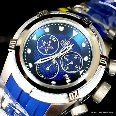 Invicta NFL Bolt Zeus Dallas Cowboys Chronograph Swiss Mvt Blue 52mm Watch New