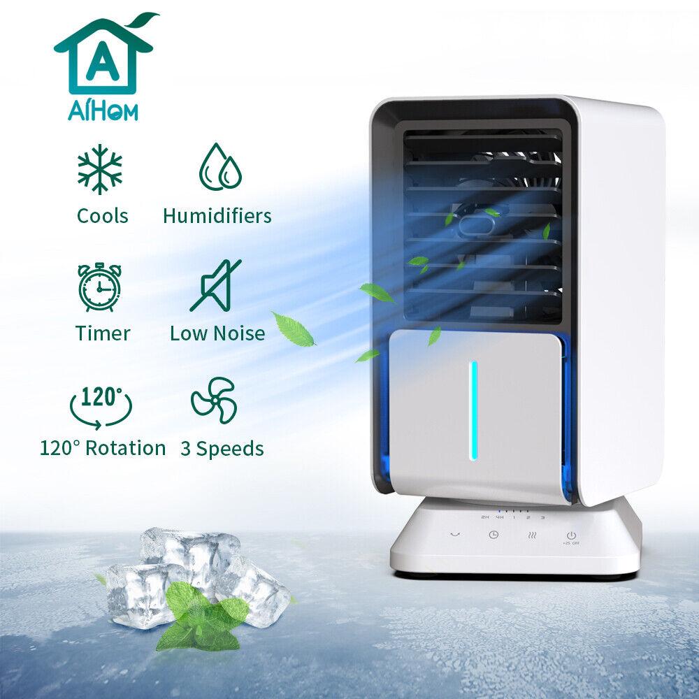 AiHom Klimagerät Luftbefeuchter Klimaanlage 4 in 1 Mobile Luftkühler Ventilator