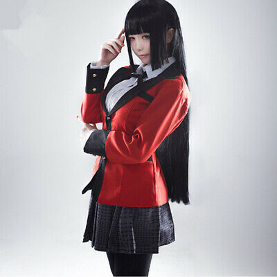 Anime Kakegurui Yumeko Jabami Costumes Full Set School Uniforms Suit Cosplay - Anime Cosplays