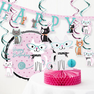 Purr-fect Cat Birthday Party Decorations - Cat Birthday Party