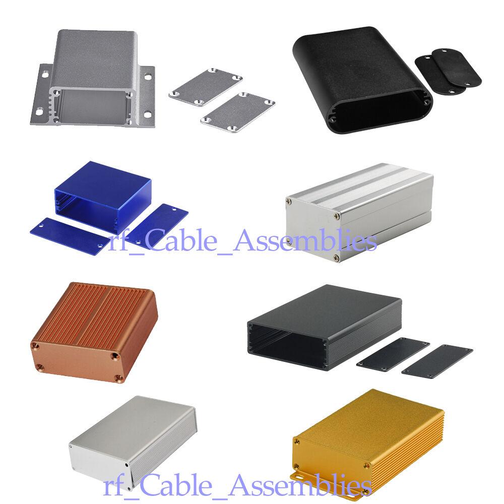 Aluminum PCB Instrument Box Enclosure Electronic Project Storage Case DIY Sizes